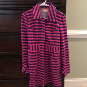 Tulle pink and blue stripe jacket small
